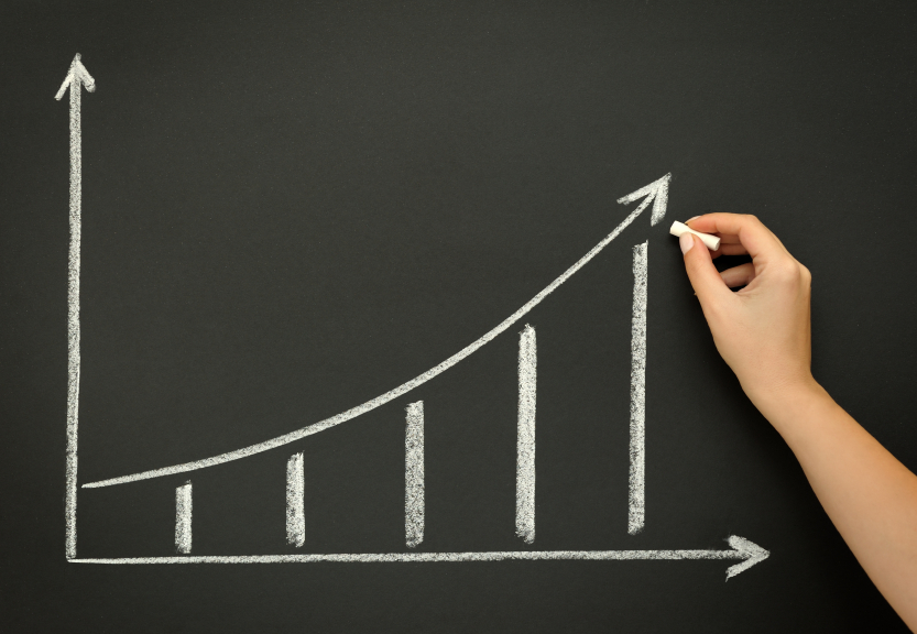 upwards curve graph